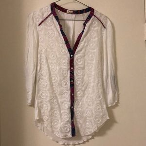White Blouse with Accents